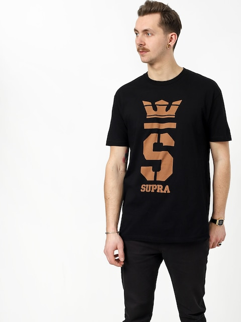 T-shirt Supra Champ (black/tan)