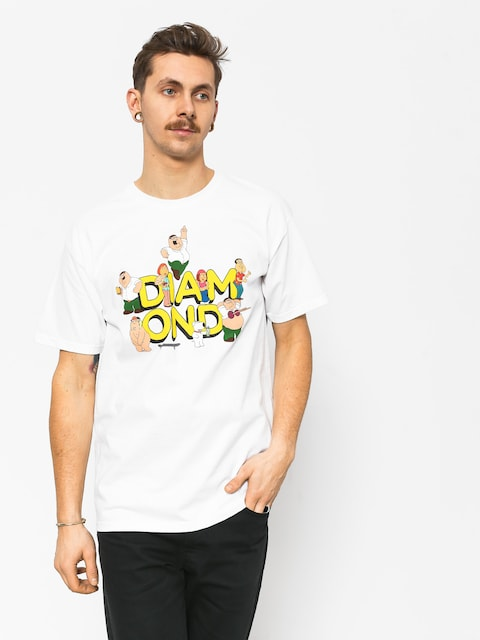 T-shirt Diamond Supply Co. Diamond X Family Guy