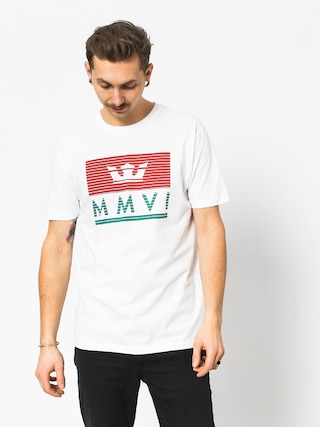 T-shirt Supra Crown Jewel (white/red/tea)