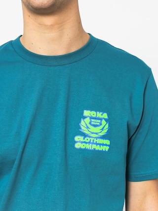 T-shirt Koka Blurry (turquoise)