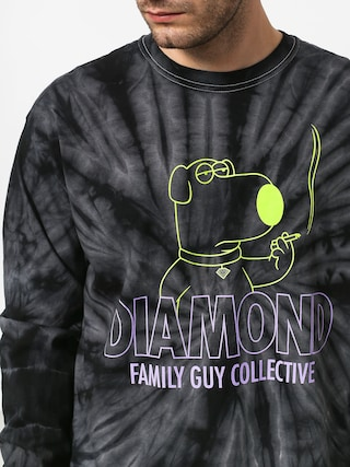 Longsleeve Diamond Supply Co. Dmnd Family Guy Collective Tie Dye (black)