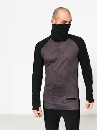 Longsleeve Majesty Surface Base Layer Top Crow (black/graphite)