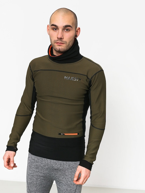 Longsleeve aktywny Majesty Heatshield Mid Layer (green/black)