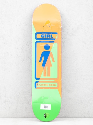 Deck Girl Skateboard Biebel 93 Til (brown/green)