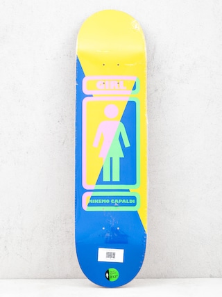 Deck Girl Skateboard Mike Mo 93 Til (yellow/blue)