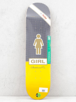 Deck Girl Skateboard Malto Cubano (black white/yellow)