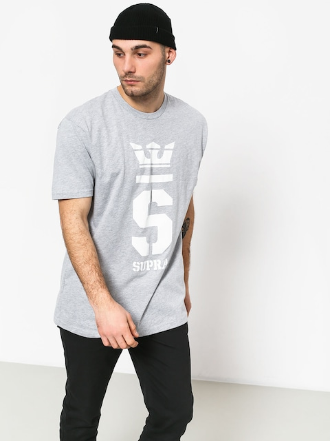 T-shirt Supra Champ (grey heather/wht)