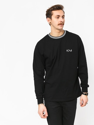 Longsleeve Polar Skate Striped Rib (black/white)