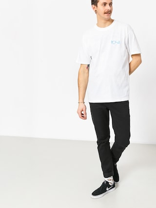 T-shirt Polar Skate Fill Logo (white/pool blue)