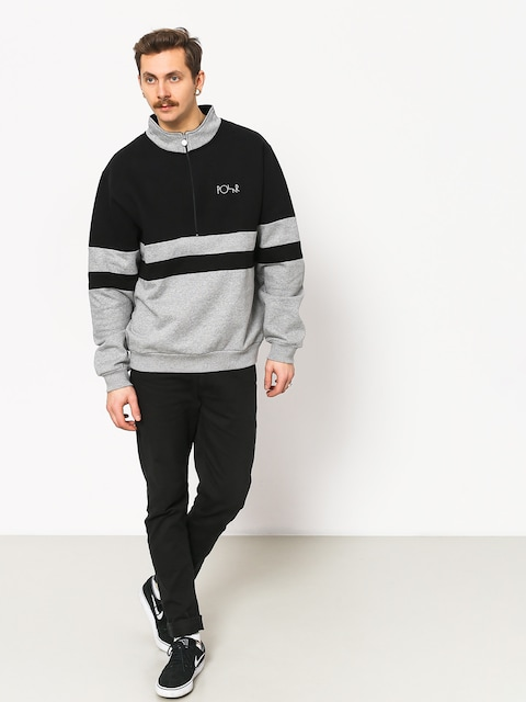 Bluza Polar Skate Block Zip (black/heather grey)