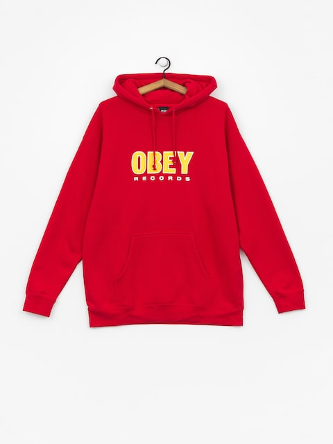 Bluza z kapturem OBEY Obey Records 2 HD (red)