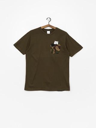 T-shirt RipNDip Lord Nermal Camo Pocket (army camo)