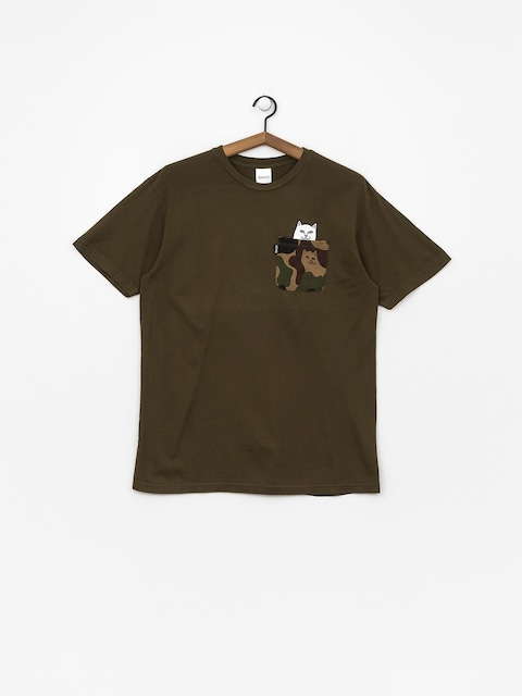 T-shirt RipNDip Lord Nermal Camo Pocket (army camo)