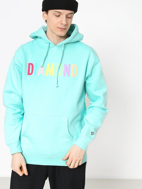 Bluza z kapturem Diamond Supply Co. Colour Pop HD (mint)