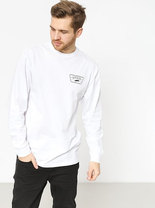 Longsleeve Vans Full Patch Back (white/black)