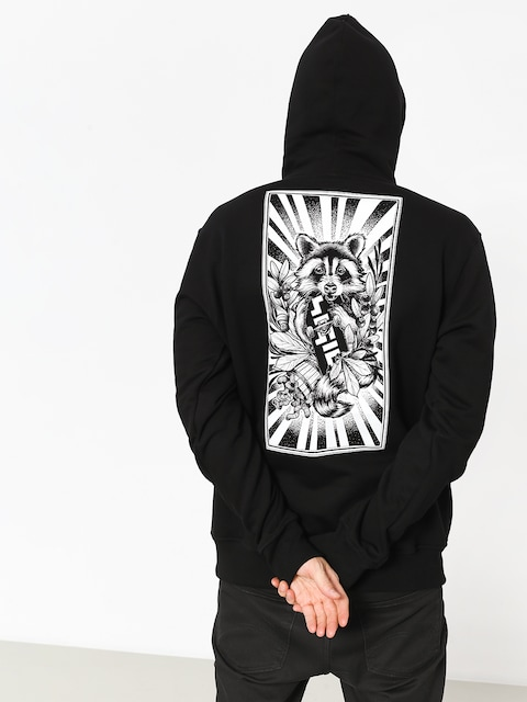 Bluza z kapturem Nervous Sigil Racoon HD (black)