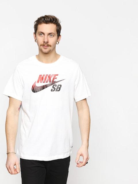 T-shirt Nike SB Sb Dri Fit Nba (white/black/university red)