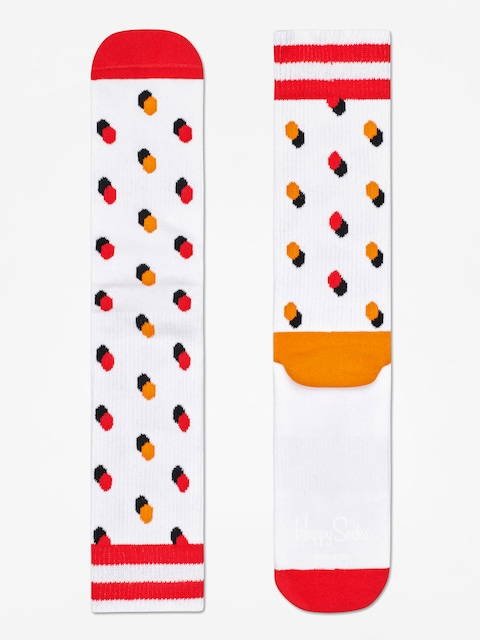 Skarpetki Happy Socks Athletic Shadow Dot (white/orange/red)