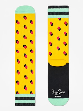 Skarpetki Happy Socks Athletic Shadow Dot (yellow/mint/red)