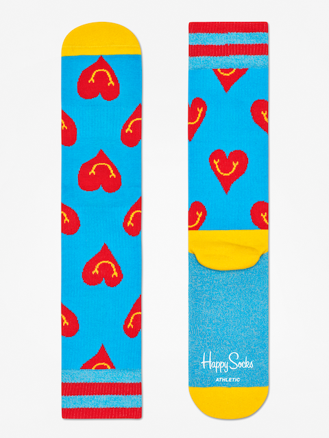 Skarpetki Happy Socks Athletic Smiley Heart (blue/yellow/red)