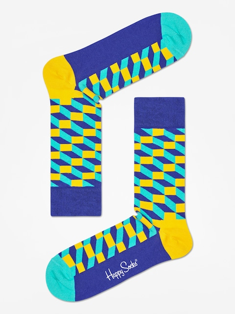 Skarpetki Happy Socks Filed Optic (navy/royal/yellow)