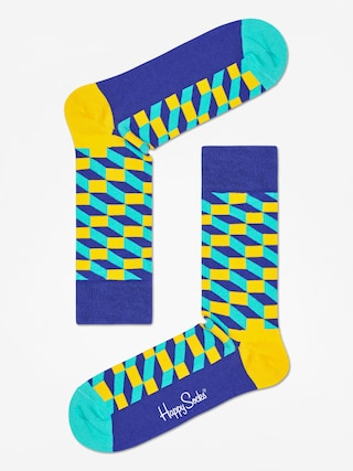 Skarpetki Happy Socks Filed Optic (navy/royal/yellow)