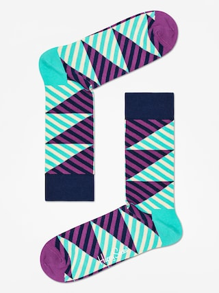 Skarpetki Happy Socks Diagonal Stripe (mint/purple)