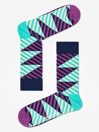 Skarpetki Happy Socks Diagonal Stripe (mint/purple)