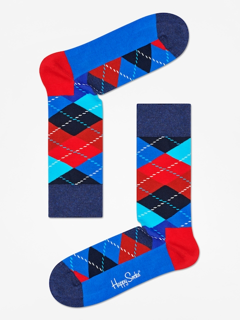 Skarpetki Happy Socks Argyle (black/blue/red)