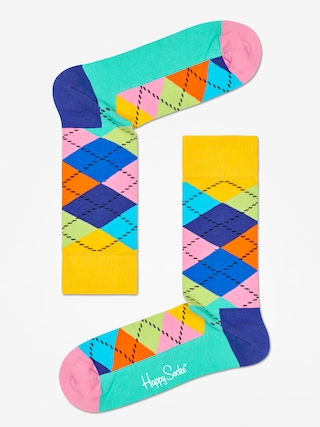 Skarpetki Happy Socks Argyle (yellow/blue/green)