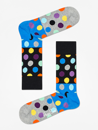 Skarpetki Happy Socks Big Dot Block (black/blue/grey)