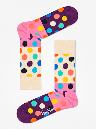 Skarpetki Happy Socks Big Dot Block (sand/pink/purple)