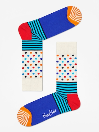 Skarpetki Happy Socks Stripe And Dots (off white/blue/multi)