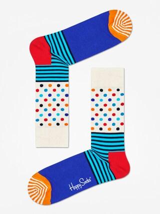 Skarpetki Happy Socks Stripe And Dots (off white/blue/multi)