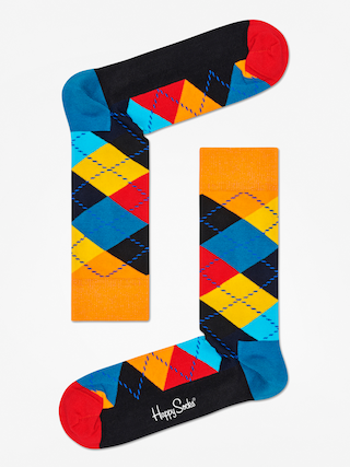Skarpetki Happy Socks Argyle (orange/black/multi)