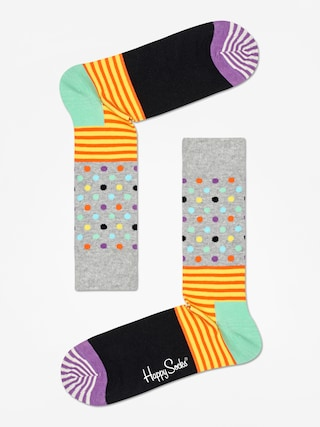 Skarpetki Happy Socks Stripe And Dots (heather grey/black/multi)