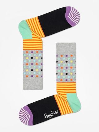 Skarpetki Happy Socks Stripe And Dots (heather grey/black/multi)