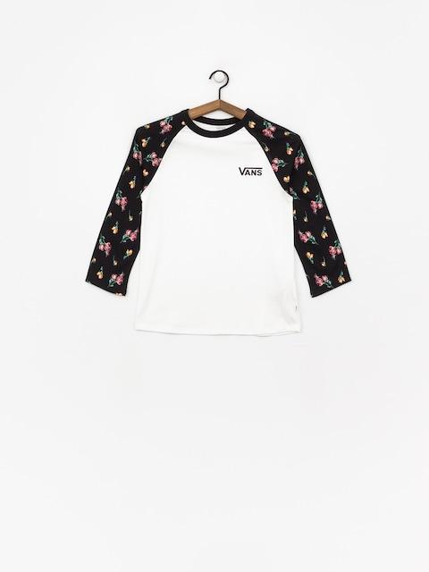 T-shirt Vans Satin Floral Raglan Wmn (black/satin florral)