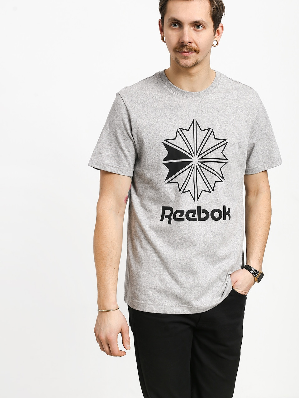 T Shirt Reebok F Court Classic Gr Long Tee medium grey heather