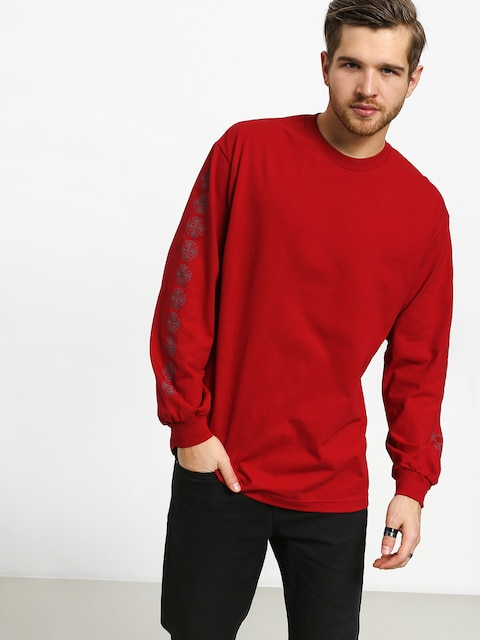 Longsleeve Independent Thrasher Pentagram Cross (red)