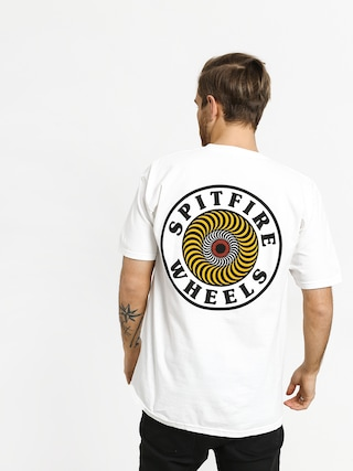 T-shirt Spitfire Og Crcl (white/yellow/red)