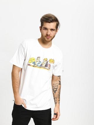 T-shirt Krooked Smoking (white)