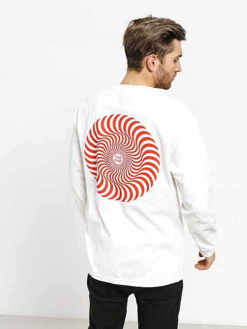 Longsleeve Spitfire Classic Swirl (white/red)