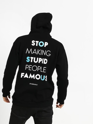 Bluza z kapturem Diamante Wear Stupid People HD (black)