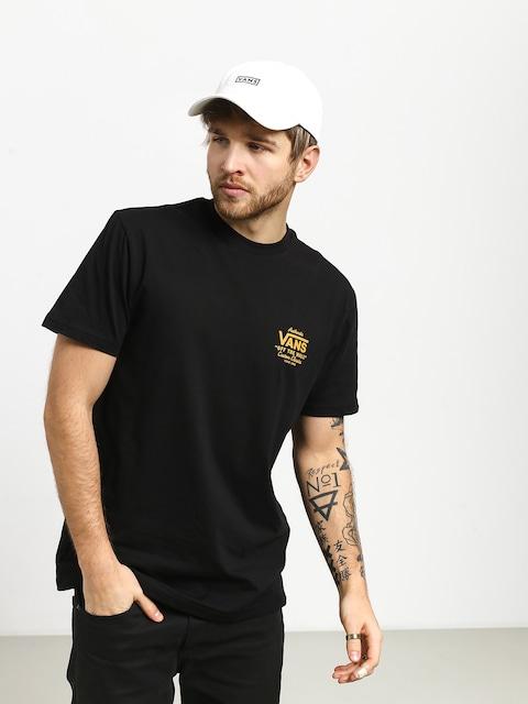 T-shirt Vans Holder Street II (black/old gold)