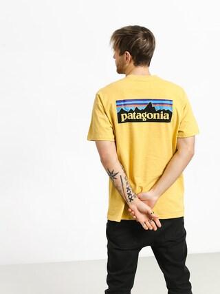 T-shirt Patagonia Logo Responsibili (surfboard yellow)