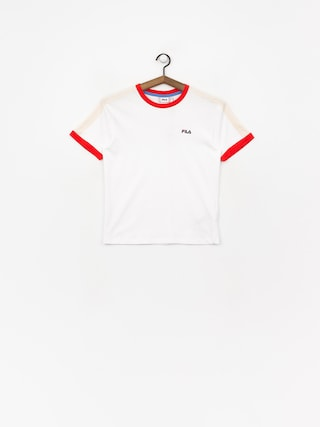 T-shirt Fila Noreen Wmn (bright white/fiesta/whitecap gray)