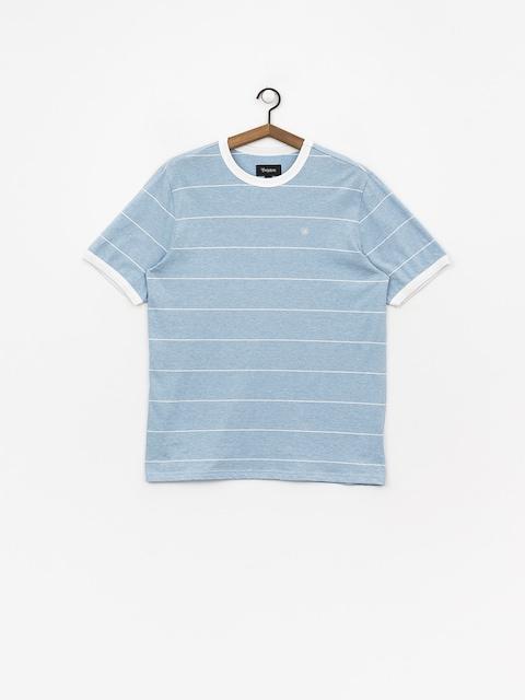 T-shirt Brixton B Shield (light blue/white)