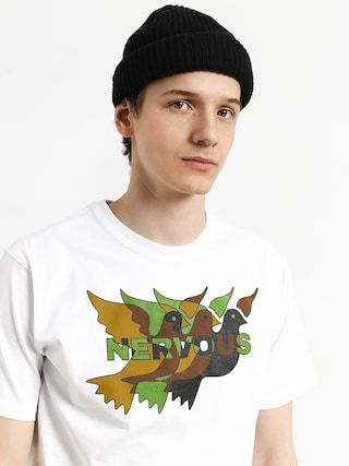 T-shirt Nervous Camo (white)