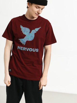 T-shirt Nervous Lcd (maroon)